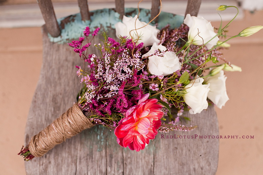 Wedding Bouquet With Twine Touches