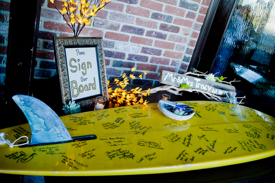 Unique Wedding Guest Book Surf Board