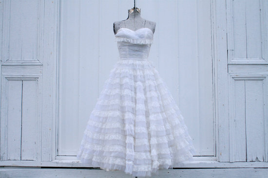 Tea Length Wedding Gown for Vintage Brides