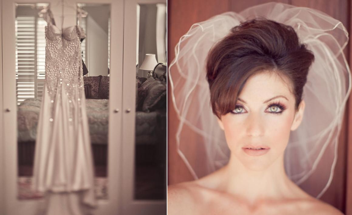 1950s Sheath Wedding Dress And Tulle Veil Onewed Com