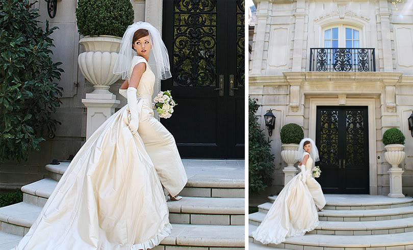 1950s-inspired-bride-wears-ivory-gown-and-waterfall-veil.original