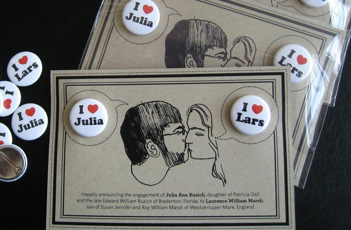 Unique Engagement Announcements Custom Buttons