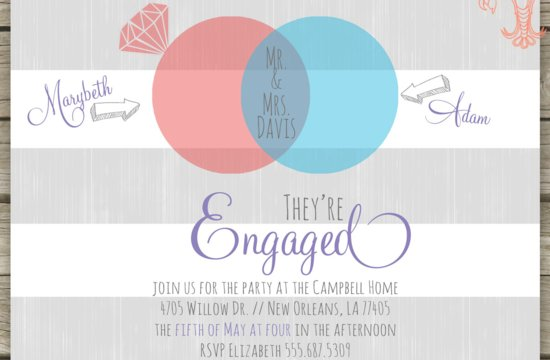 awesome wedding engagement announcement printable