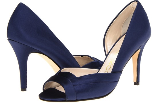 Blue Wedding Shoes for Under 200 elegant midnight satin