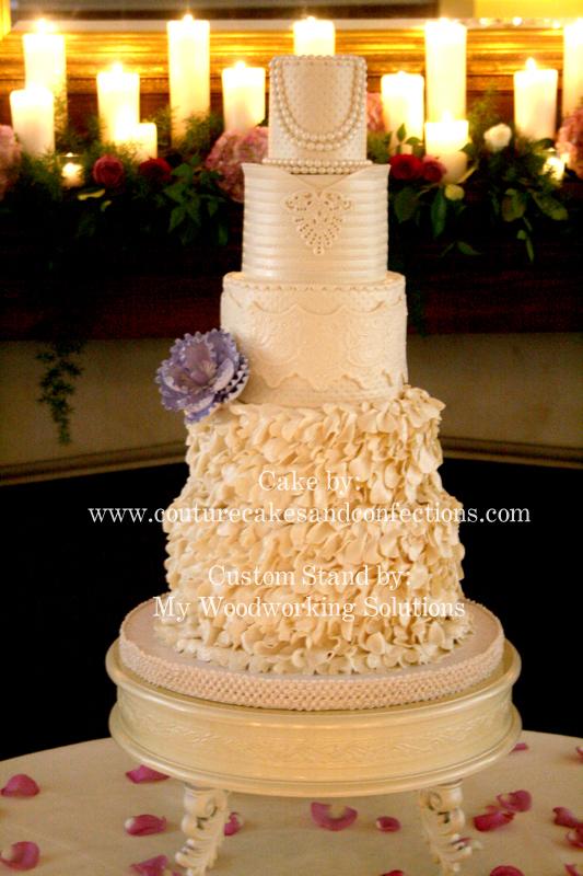 Lace Wedding Cake on OneWed