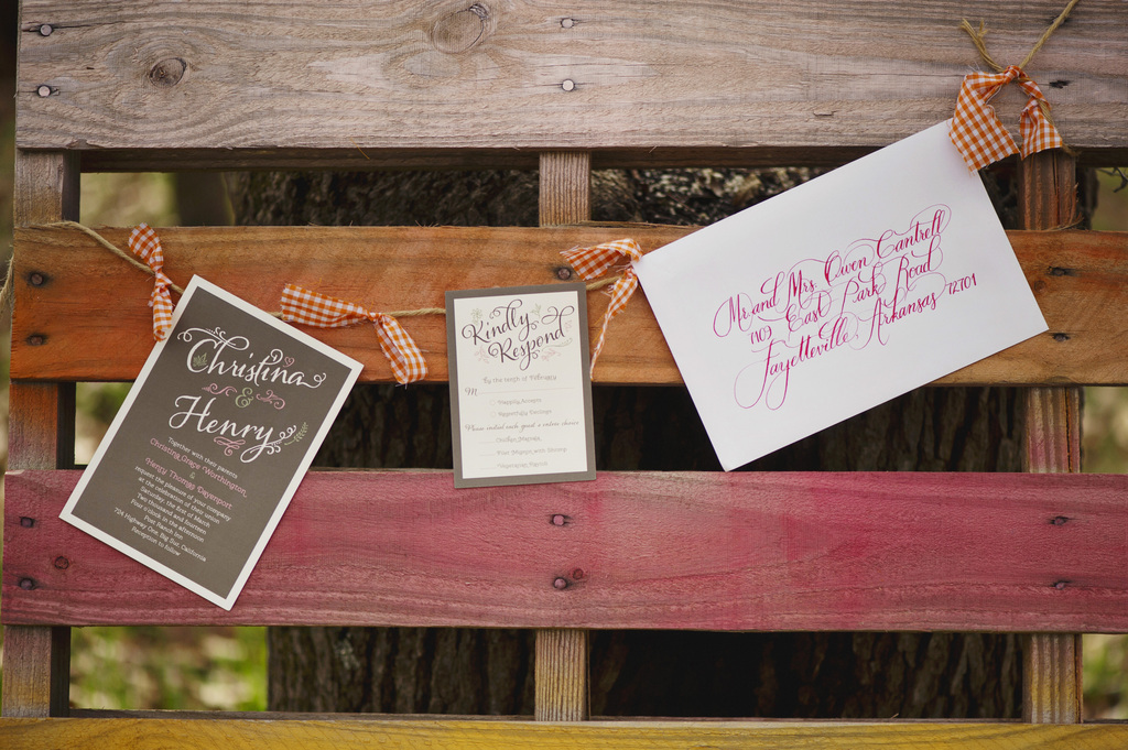 Wedding-invitations-hang-on-rustic-fence.full