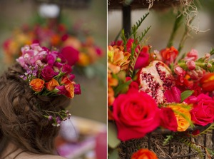 photo of Rustic Love with Bright Juicy Pops of Color