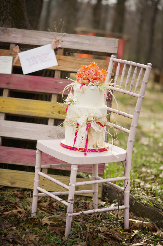 Outdoor Rustic Wedding Reception Bright Decor Accents