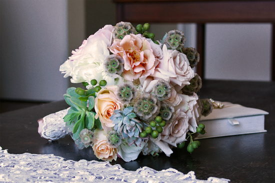 wedding flower inspiration vintage succulent lace wedding bouquet