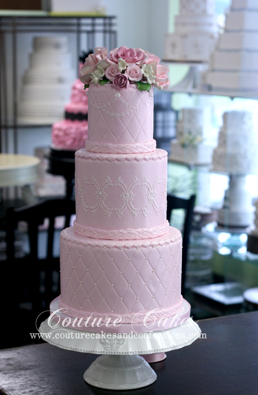 3 tier pink cake pic 1