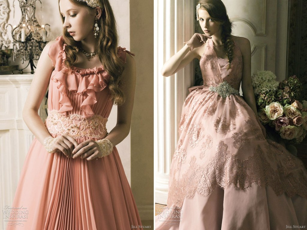 Pink Beaded Wedding Dress Jill Stuart