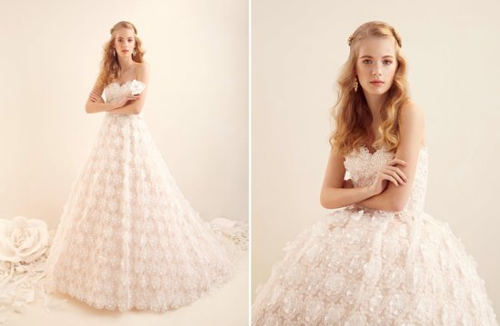 Alita Graham Wedding Dress Floral Ballgown