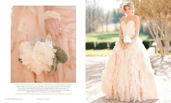 Romantic Light Pink Ballgown Wedding Dress