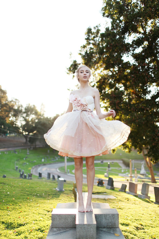 Romantic LWD in Blush Pink Tulle