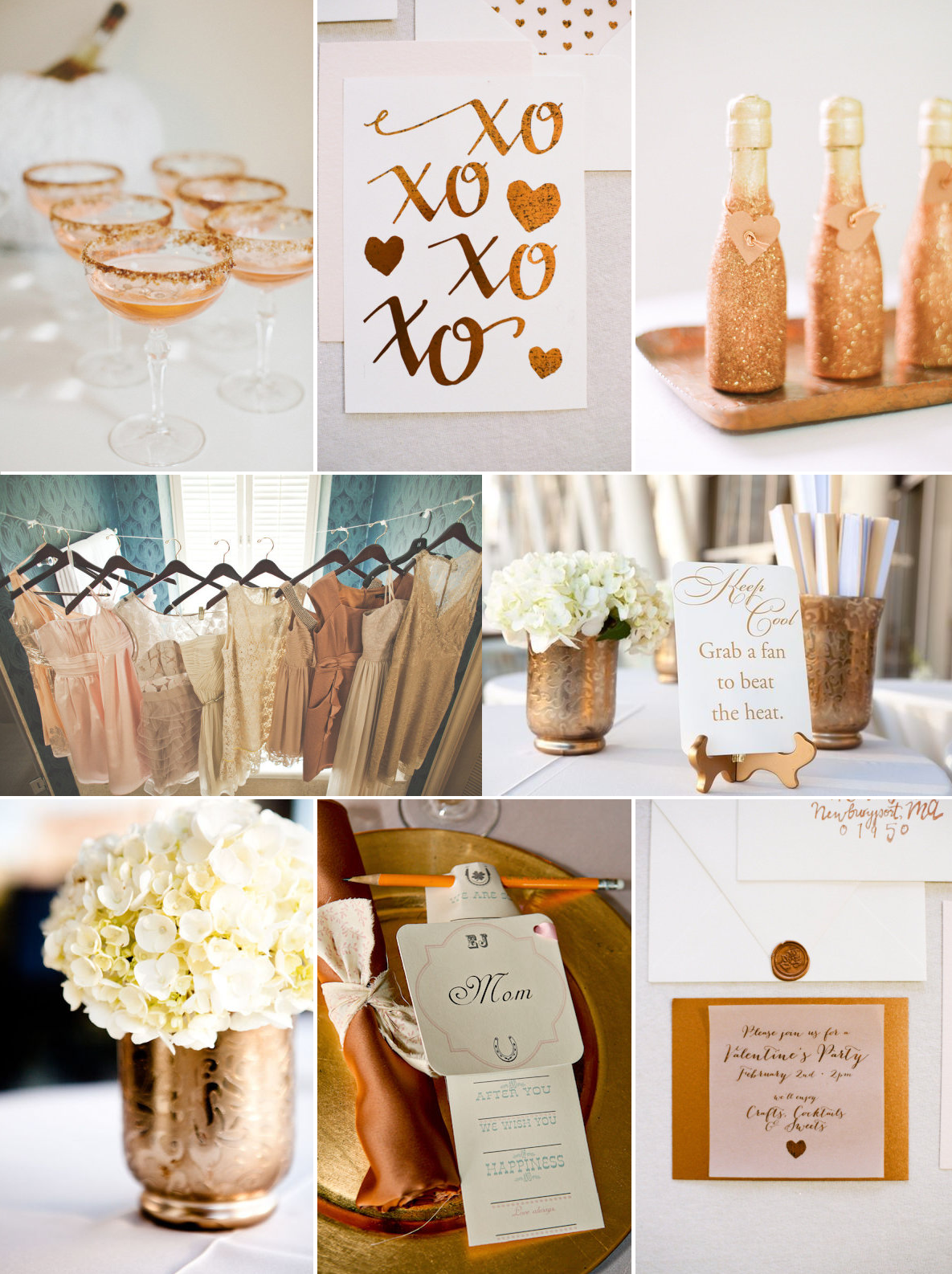Copper And Gold Wedding Color Inspiration