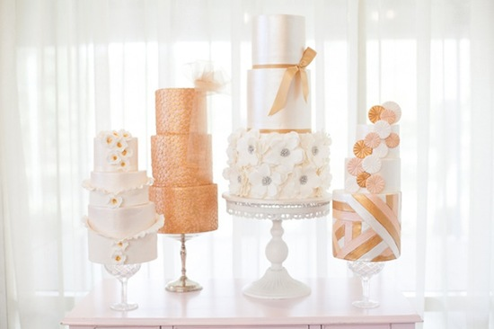 photo of Wedding Color Inspiration: Sparkly Copper & Gold
