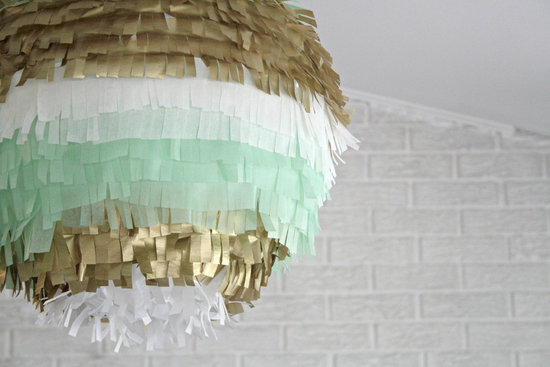 Fringe Paper Lantern Wedding Decor DIY