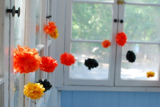 Tissue Paper Poms DIY Wedding Decor