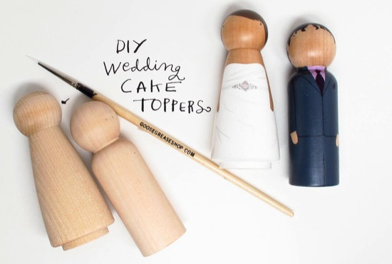 DIY Wedding Cake Toppers Cute