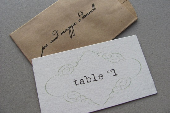 Elegant Escort Cards DIY Wedding Kit