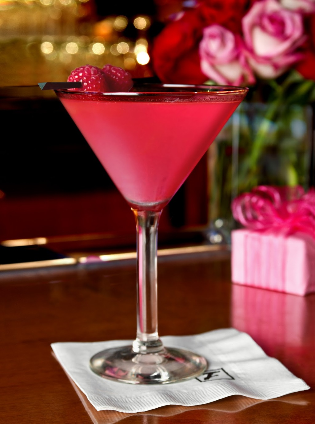 Tickled Pink Valentines Day martini
