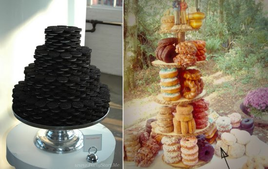 Cookie and Donut Wedding Cake Alternatives
