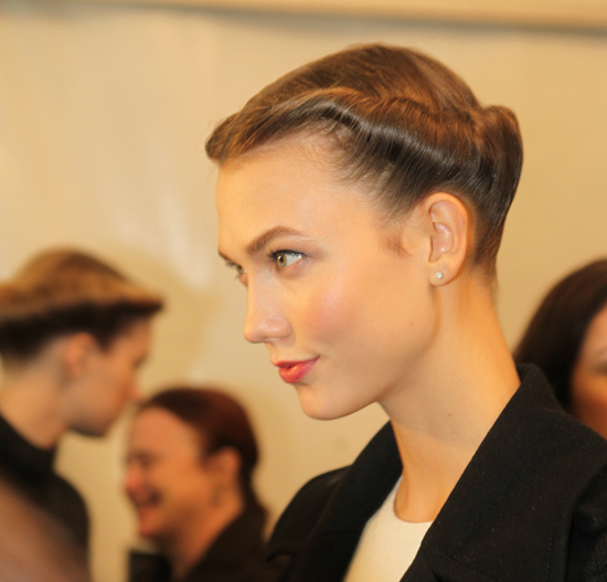 Twisted Crown Bridal Updo at Carolina Herrera 2