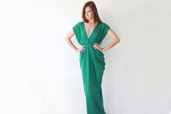 Green Grecian Inspired Bridesmaid Dress