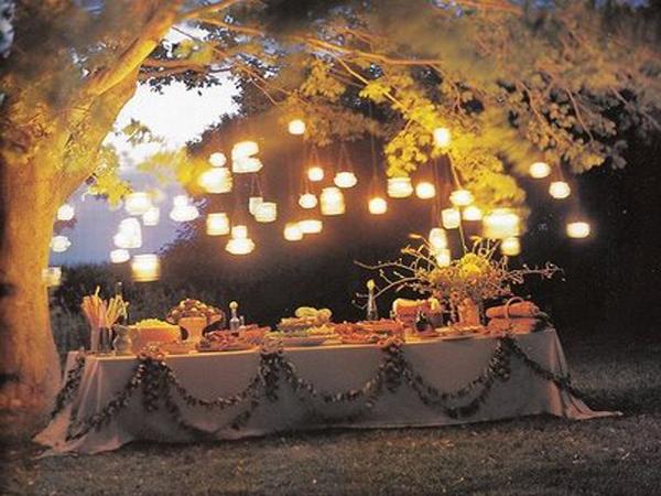 Elegant Party Ideas Outdoor Lighting Decor
