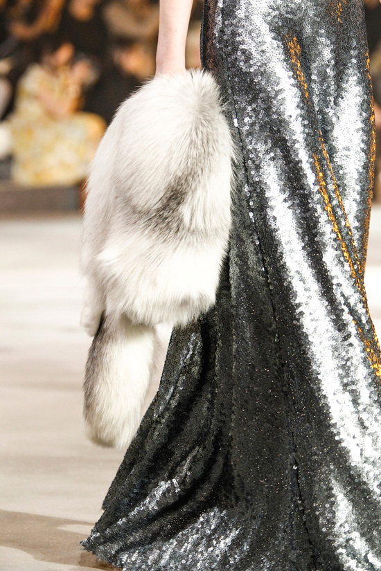 Ivory fur bridal coat for winter weddings Marc Jacobs