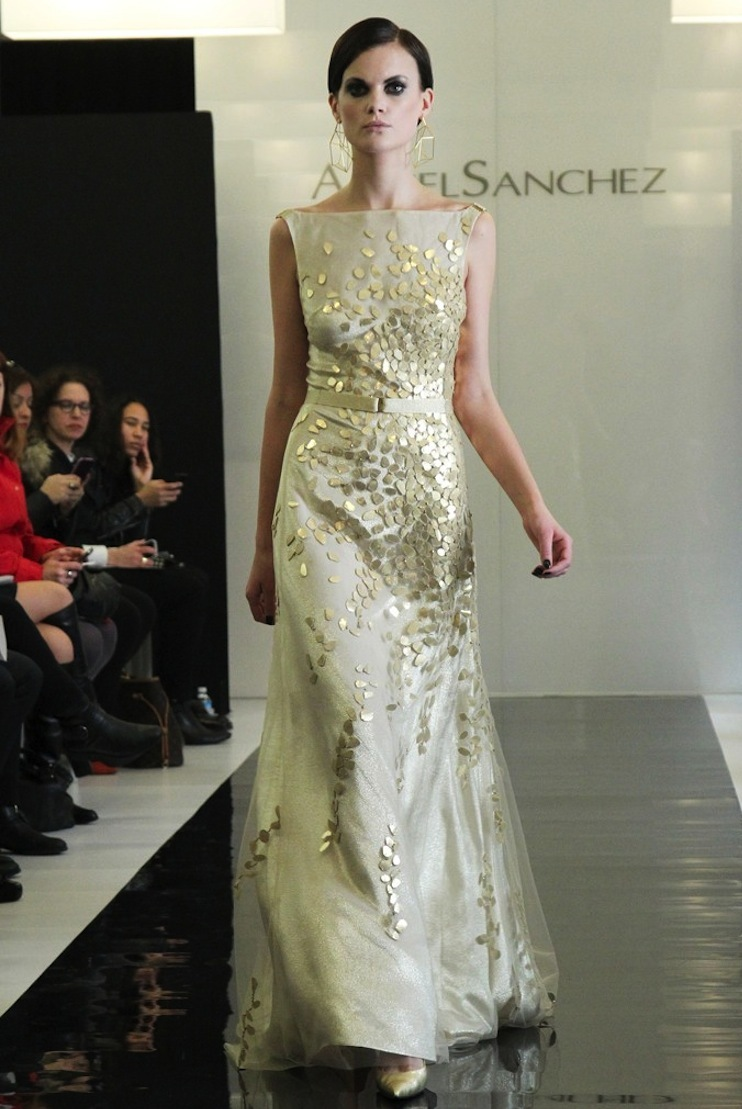 Angel Sanchez Bridal Gown Inspiration Fashion Wedding Fall 2013 1