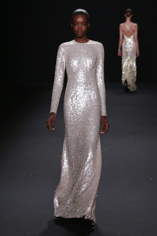 Vintage inspired beaded wedding gown by Naeem Khan