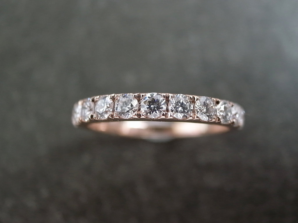 Rose-gold-wedding-band-for-brides-with-big-sparkly-diamonds.full