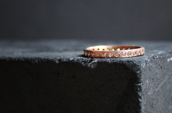 Simple Rose Gold Wedding Eternity Band