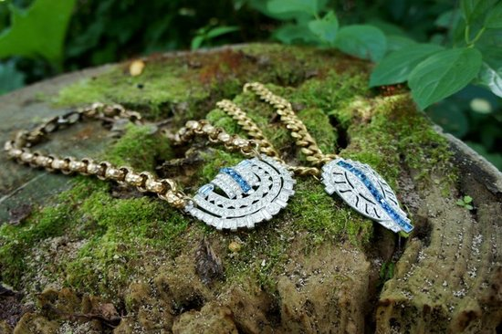 Something Blue Vintage Statement Wedding Jewelry