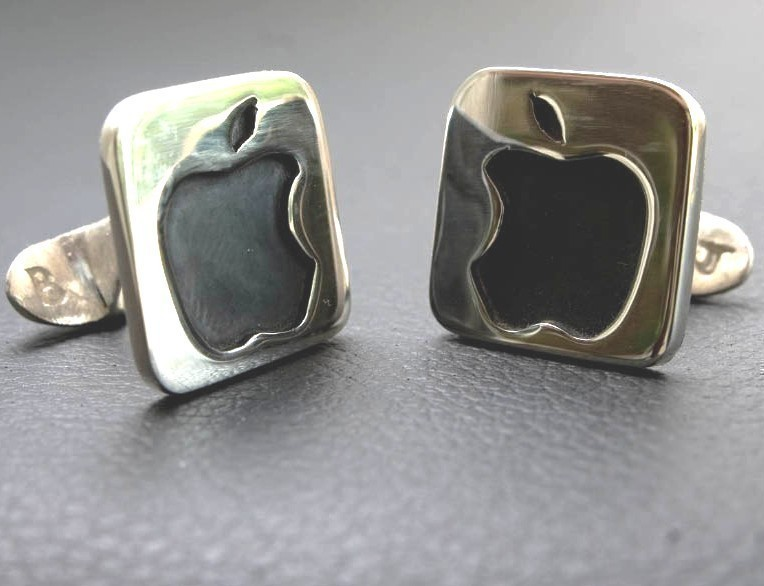 Mac Apple Cuff Links for Grooms