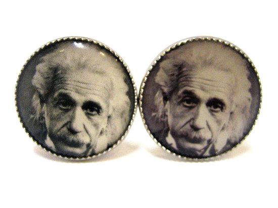 Albert Einstein Cuff Links for Grooms