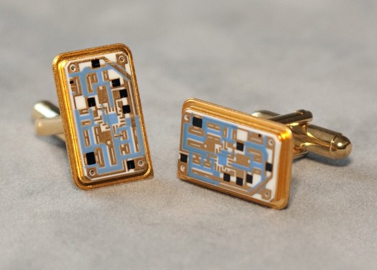 Apple Computer Chip Cuff Links