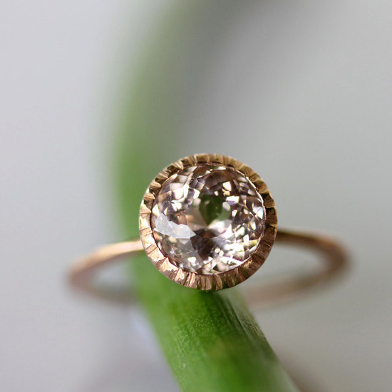 Alternative engagement ring morganite