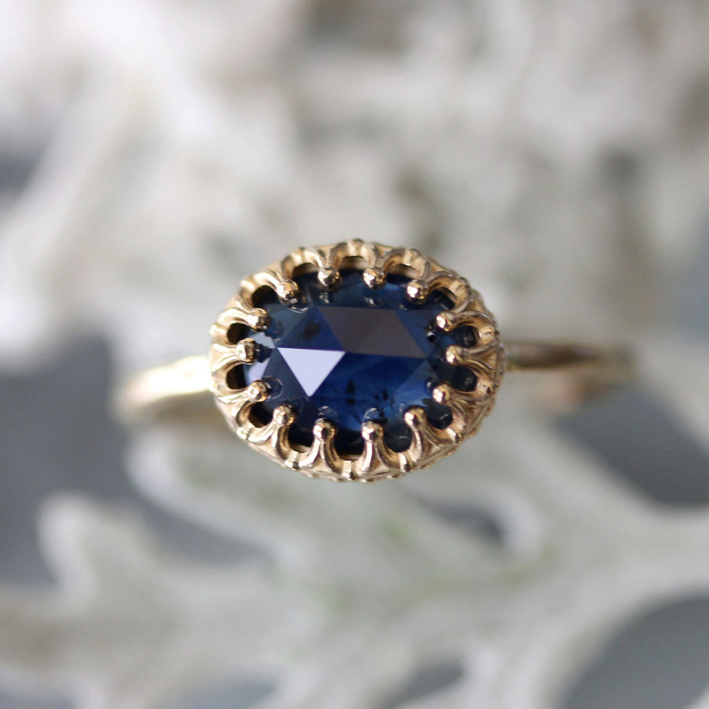 carat gillian gold yellow blue pear cornflower ring wire sapphire earandeternityband rose products cut sap