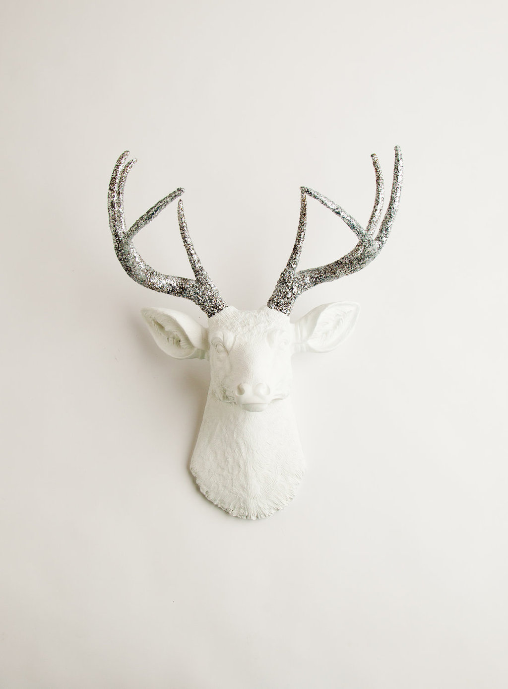 Rustic Wedding Decor White and Silver Antlers