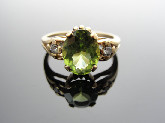 Peridot engagement ring vintage