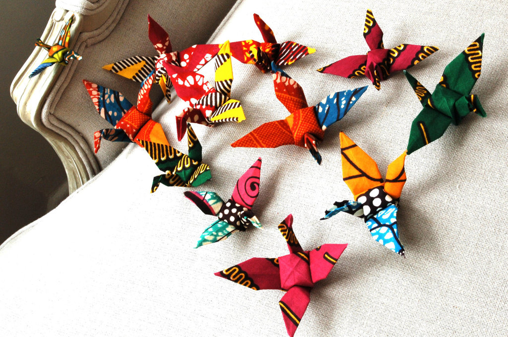 African Origami Cranes For Wedding Decor