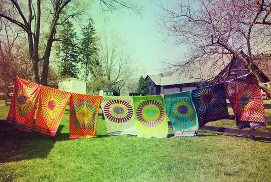 Hippie Wedding Theme Tie Die Bunting