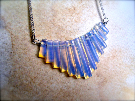 Tribal statement wedding necklace something blue