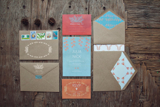 Tribal Style Wedding Invitation Suite