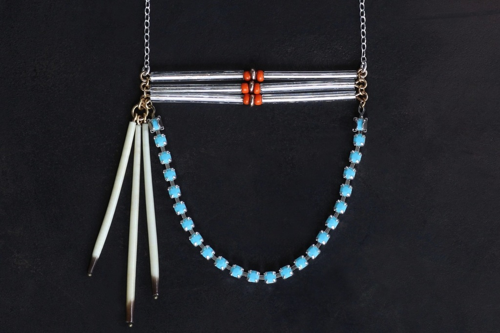 Tribal-bridal-necklace-turquoise-silver-coral.full