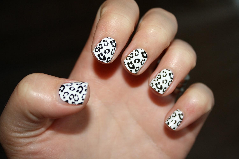Nail art for short nails animal print love nailart leopard zebra view images white and black wedding nail art animal prinsesfo Choice Image