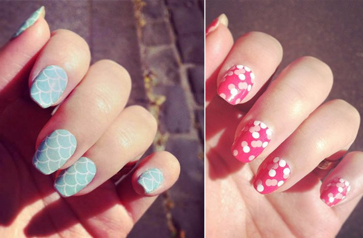 Wedding nail art light pink blue romantic unique wedding nail art light pink blue romantic prinsesfo Image collections