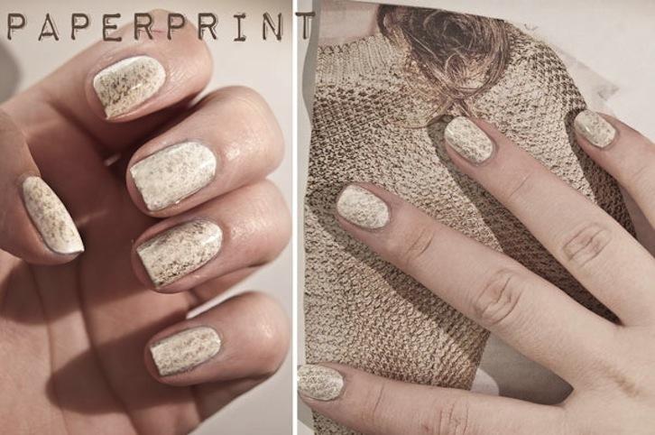 Unique Wedding Nails Paper Print